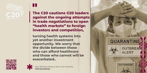 Urgent Statement by the Civil 20 to the G20 Virtual Summit on COVID-19: New Realities Require New Priorities