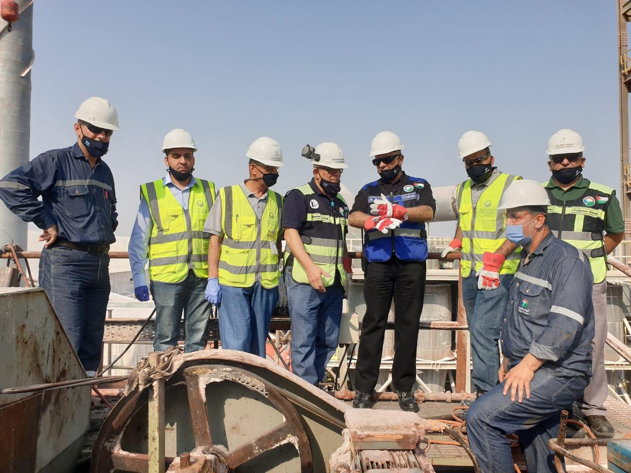 """""""البوتاس العربية"""" تنهي بنجاح أعمال الصيانة الرئيسية على مصنع البلورة الباردة الأول في غور الصافي"""