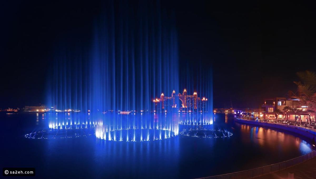 الإمارات تحطم رقما قياسيا بأكبر نافورة في العالم