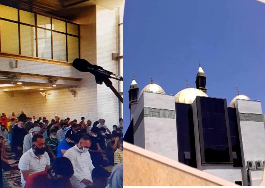 أول صلاة تقام في مسجد المرحوم د.أحمد الحوراني بعد تدشينه بمنطقة النزهة في عمان