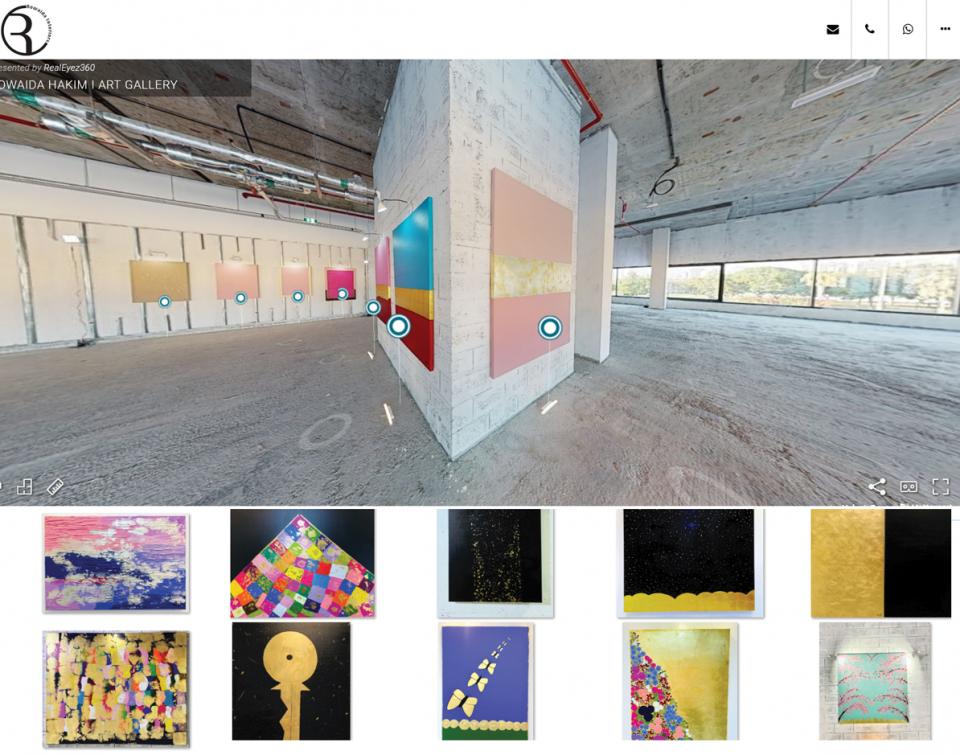 رويدا حكيم تطلق معرضاً فنياً افتراضياً ضخماً يحمل رسالة أمل إلى العالم أجمع.