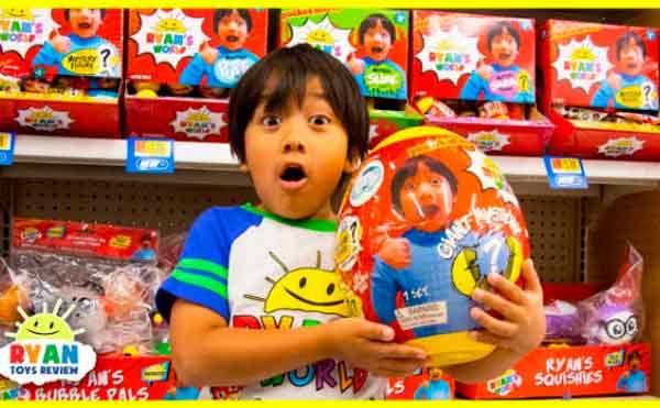 رايان كاجي اشهر طفل على اليوتيوب بـ 26 مليون مشترك