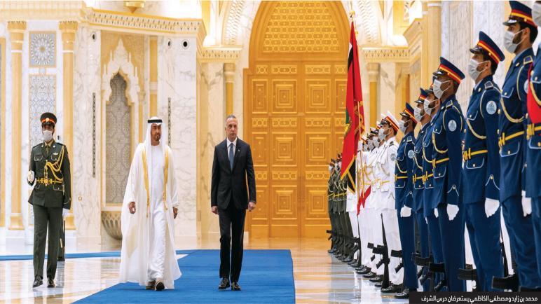 محمد بن زايد يؤكد على دعم الامارات للعراق