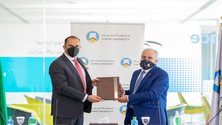 إتفاقية تعاون مشترك بين جامعة عمان الأهلية وجامعة عجمان