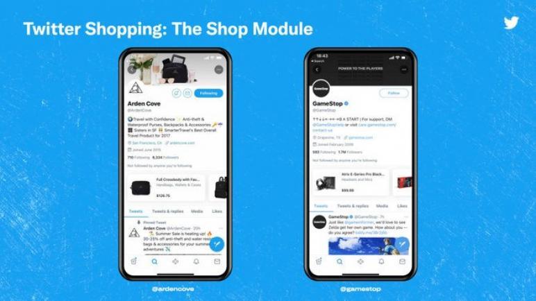 تويتر يختبر التسوق في حركة التجارة الإلكترونية