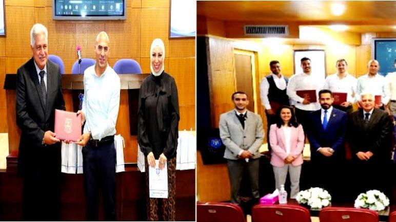 """حفل تخريج طلبة الدبلوم التدريبي """"المدرب الشخصي الشامل"""" في جامعة عمان الاهلية"""